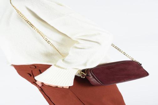 Sacs à main Georgia Rose Noceta Leather Bordeaux vue bas / vue portée sac