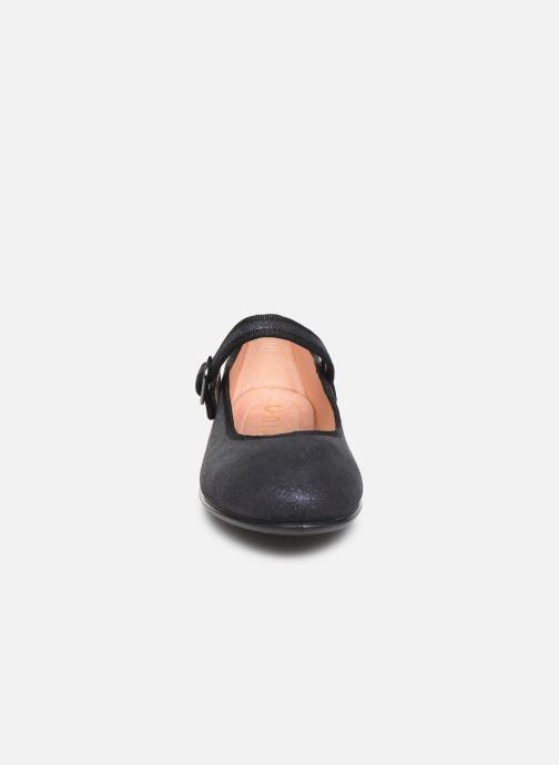 Ballerines Unisa Seyla Bleu vue portées chaussures