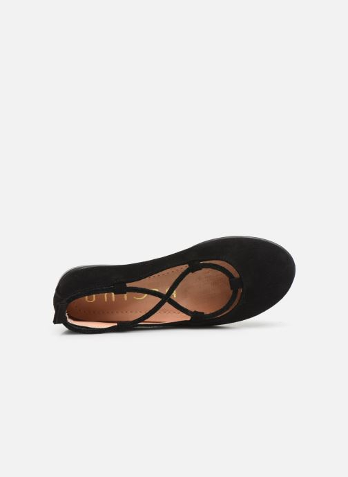 Ballet pumps Unisa Seimy Black view from the left