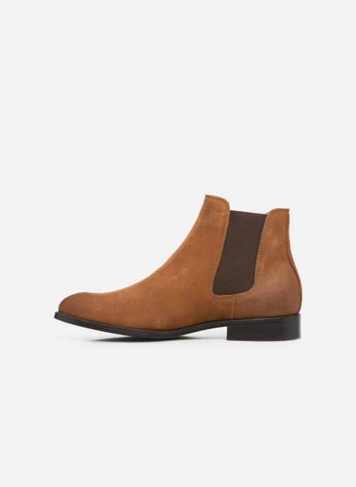 Ankle boots Jack & Jones JFWPETER WAXED SUEDE Brown front view