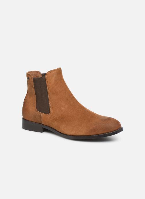 Bottines et boots Jack & Jones JFWPETER WAXED SUEDE Marron vue détail/paire