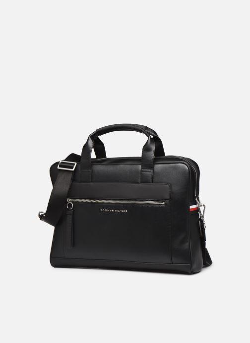 Laptoptaschen Tommy Hilfiger TH METRO COMPUTER BAG schwarz schuhe getragen