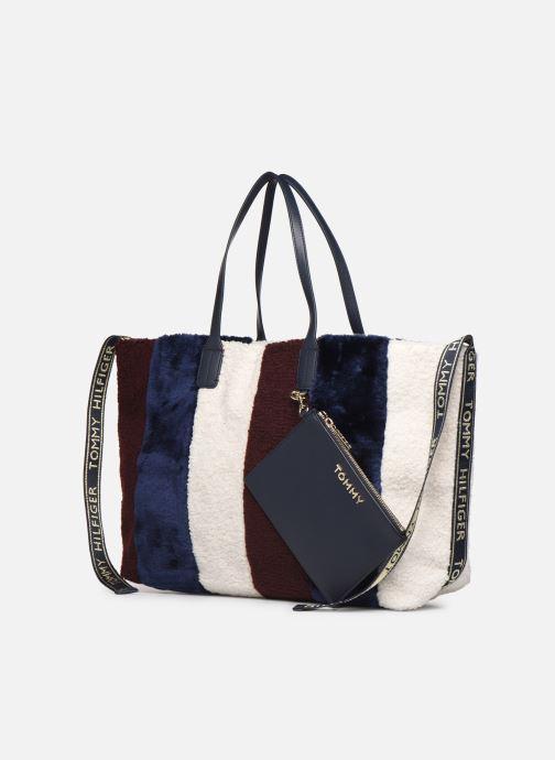 Bolsos de mano Tommy Hilfiger ICONIC TOMMY TOTE CORP FUR Multicolor vista del modelo