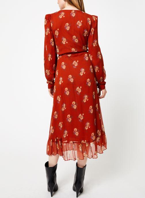Vêtements Jolie Jolie Petite Mendigote Robe Amelie Bouquet Marron vue portées chaussures
