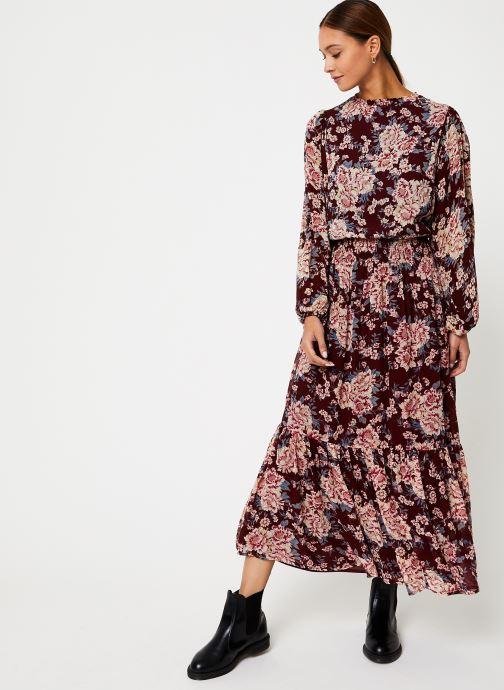 Vêtements Jolie Jolie Petite Mendigote Robe Amandine Eglantine Bordeaux vue bas / vue portée sac