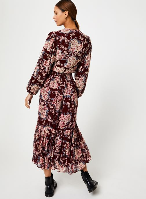 Vêtements Jolie Jolie Petite Mendigote Robe Amandine Eglantine Bordeaux vue portées chaussures
