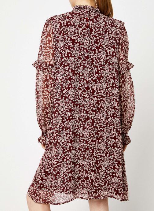Vêtements Jolie Jolie Petite Mendigote Robe Sylvia Freesia Cherry Rouge vue portées chaussures