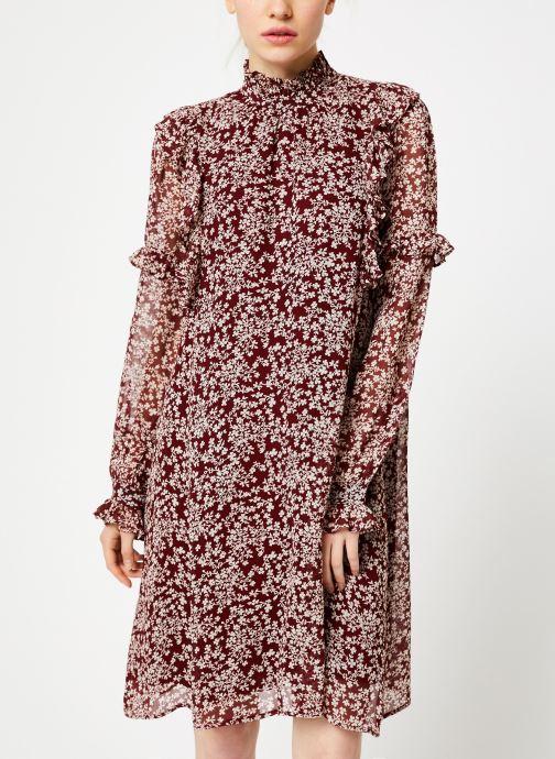 Kleding Jolie Jolie Petite Mendigote Robe Sylvia Freesia Cherry Rood detail