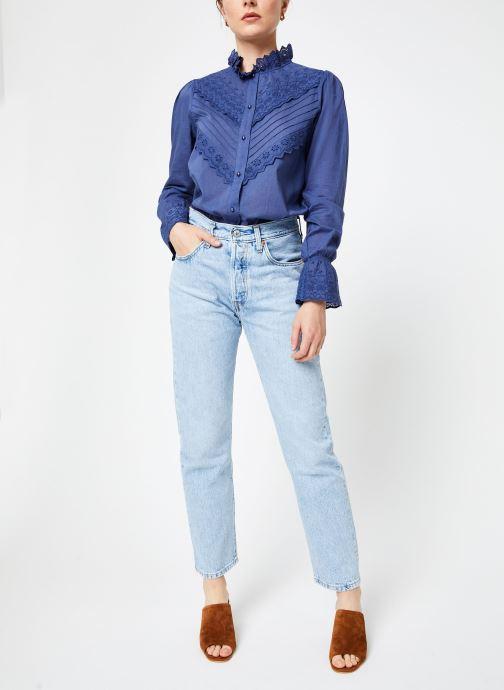 Vêtements Jolie Jolie Petite Mendigote Top Eva Cotton Voile Bleu vue bas / vue portée sac