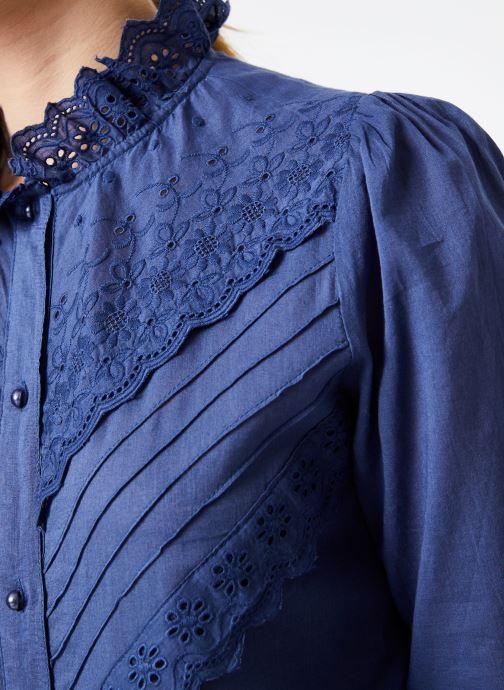 Vêtements Jolie Jolie Petite Mendigote Top Eva Cotton Voile Bleu vue face