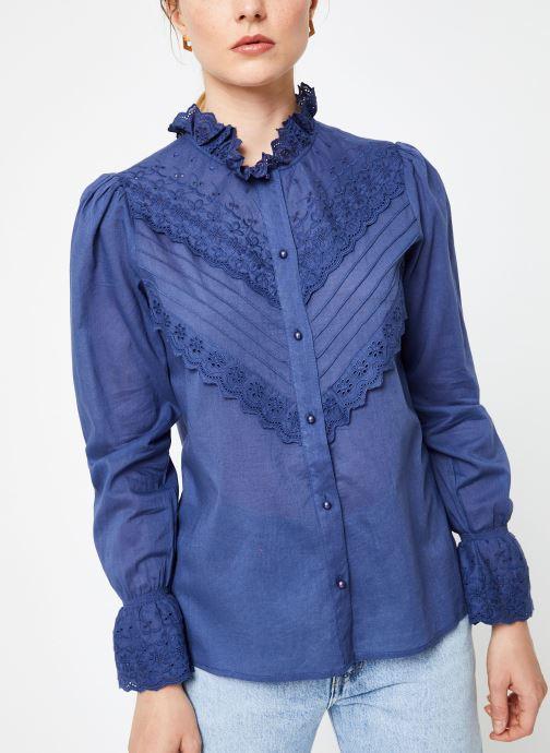 Vêtements Jolie Jolie Petite Mendigote Top Eva Cotton Voile Bleu vue droite
