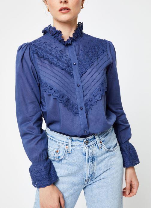 Vêtements Jolie Jolie Petite Mendigote Top Eva Cotton Voile Bleu vue détail/paire