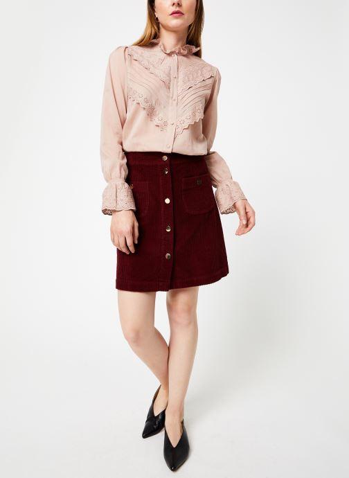 Vêtements Jolie Jolie Petite Mendigote Top Eva Cotton Voile Rose vue bas / vue portée sac