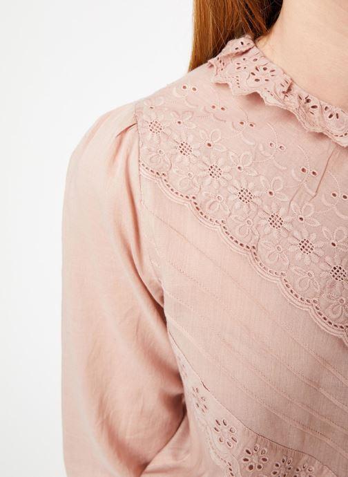 Vêtements Jolie Jolie Petite Mendigote Top Eva Cotton Voile Rose vue face