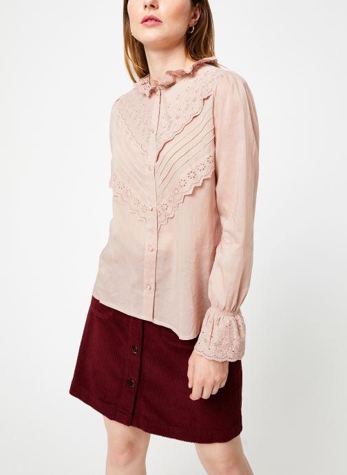 Vêtements Jolie Jolie Petite Mendigote Top Eva Cotton Voile Rose vue droite