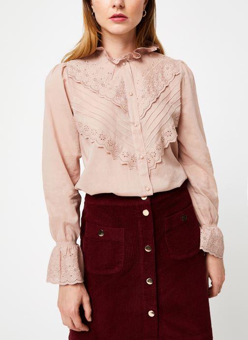 Vêtements Jolie Jolie Petite Mendigote Top Eva Cotton Voile Rose vue détail/paire