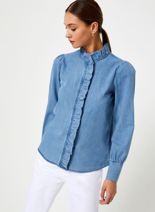 Vêtements Jolie Jolie Petite Mendigote Top Domitille Denim Bleu vue droite