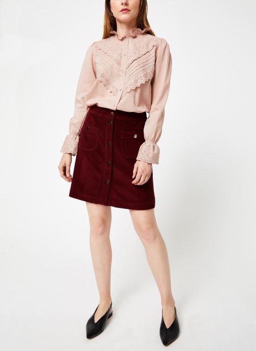 Vêtements Jolie Jolie Petite Mendigote Jupe Emma big corduroy Bordeaux vue bas / vue portée sac