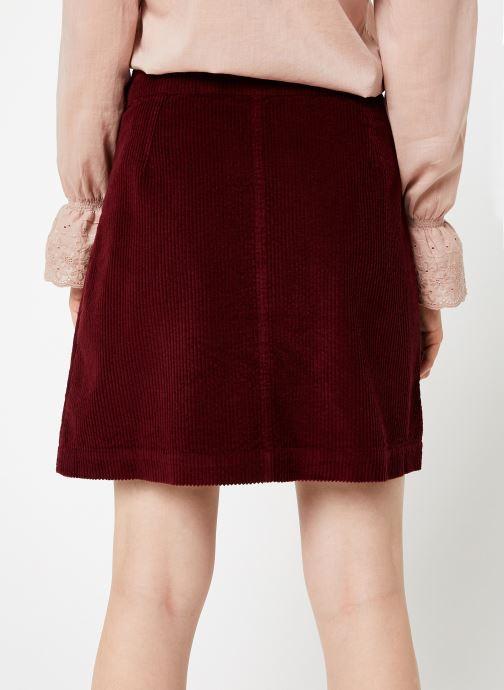 Vêtements Jolie Jolie Petite Mendigote Jupe Emma big corduroy Bordeaux vue portées chaussures