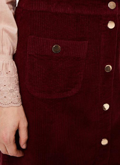 Vêtements Jolie Jolie Petite Mendigote Jupe Emma big corduroy Bordeaux vue face