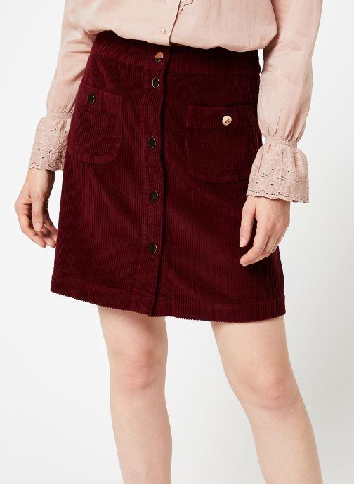 Vêtements Jolie Jolie Petite Mendigote Jupe Emma big corduroy Bordeaux vue détail/paire