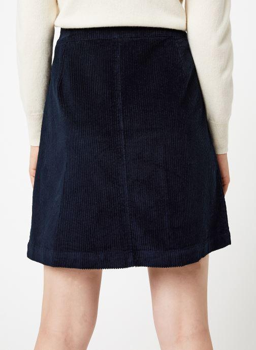 Vêtements Jolie Jolie Petite Mendigote Jupe Emma big corduroy Bleu vue portées chaussures