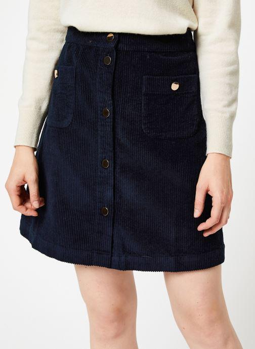 Vêtements Jolie Jolie Petite Mendigote Jupe Emma big corduroy Bleu vue détail/paire