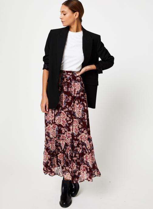 Vêtements Jolie Jolie Petite Mendigote Jupe longue Valentine Eglantine Bordeaux vue bas / vue portée sac