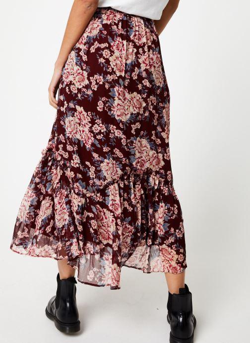 Vêtements Jolie Jolie Petite Mendigote Jupe longue Valentine Eglantine Bordeaux vue portées chaussures