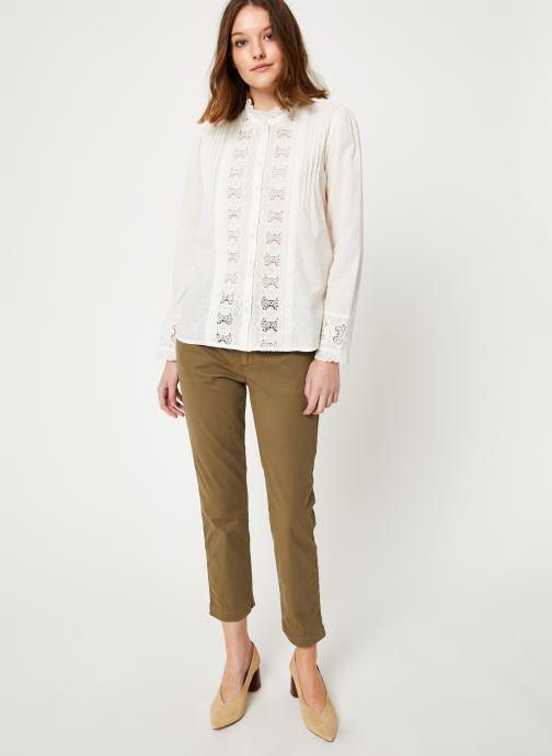 Vêtements Jolie Jolie Petite Mendigote Top Rosa Cotton Voile Blanc vue bas / vue portée sac