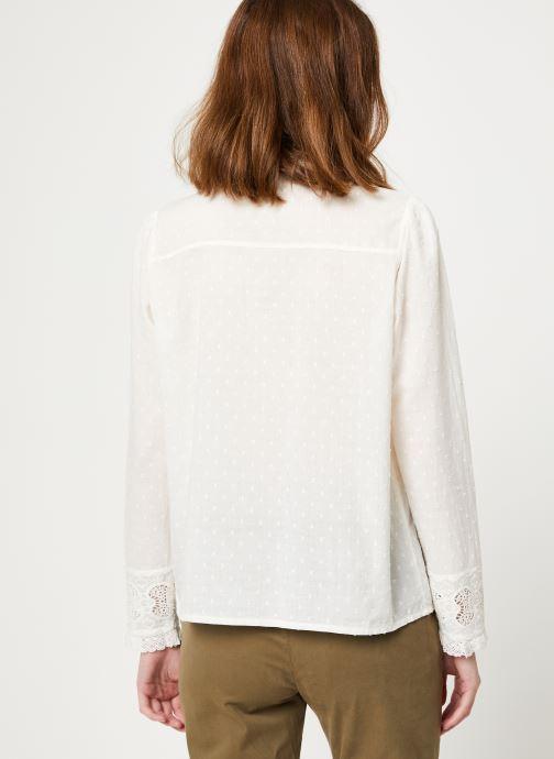 Vêtements Jolie Jolie Petite Mendigote Top Rosa Cotton Voile Blanc vue portées chaussures