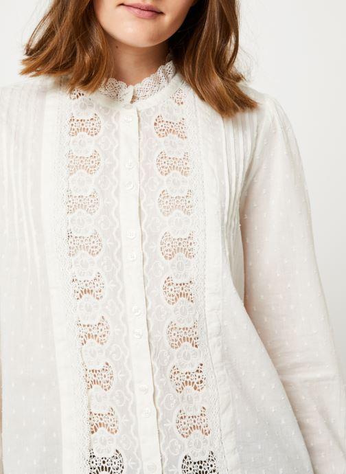 Vêtements Jolie Jolie Petite Mendigote Top Rosa Cotton Voile Blanc vue face