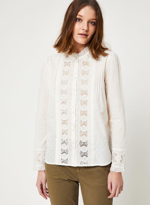 Vêtements Jolie Jolie Petite Mendigote Top Rosa Cotton Voile Blanc vue droite