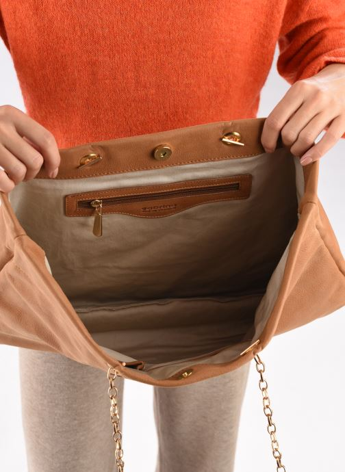 Handtassen Sabrina MEREDITH Bruin achterkant