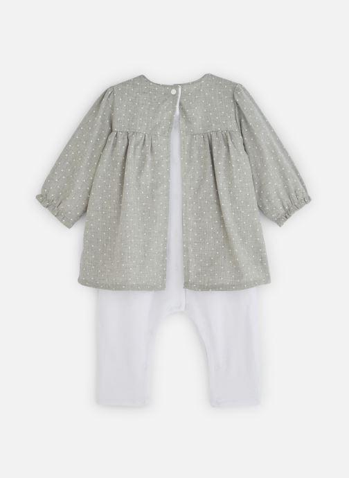 Vêtements Absorba Combirobe à pois - Flanelle coton Gris vue bas / vue portée sac