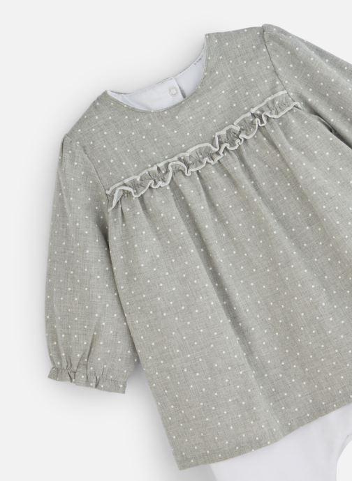 Vêtements Absorba Combirobe à pois - Flanelle coton Gris vue portées chaussures