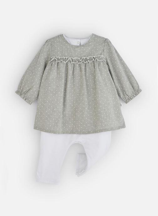 Vêtements Absorba Combirobe à pois - Flanelle coton Gris vue détail/paire