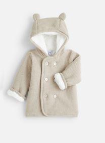 Manteau court - Manteau tricot polaire à capuche -