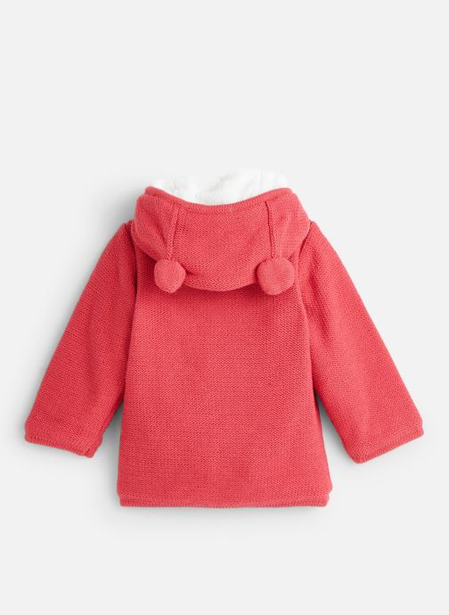 Vêtements Absorba Manteau tricot polaire à capuche - Framboise Rouge vue bas / vue portée sac