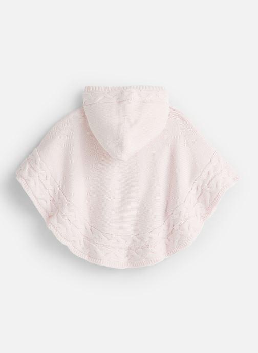 Vêtements Absorba Cape à Capuche Tricot doublée polaire Rose vue bas / vue portée sac