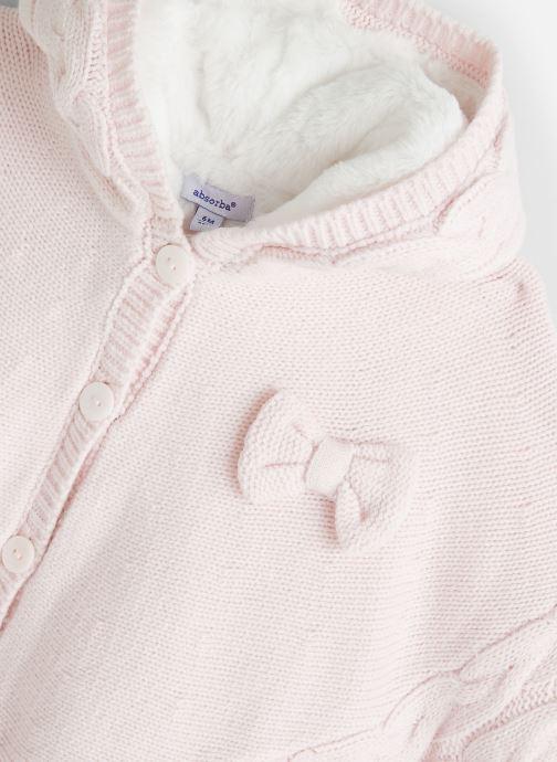Vêtements Absorba Cape à Capuche Tricot doublée polaire Rose vue portées chaussures