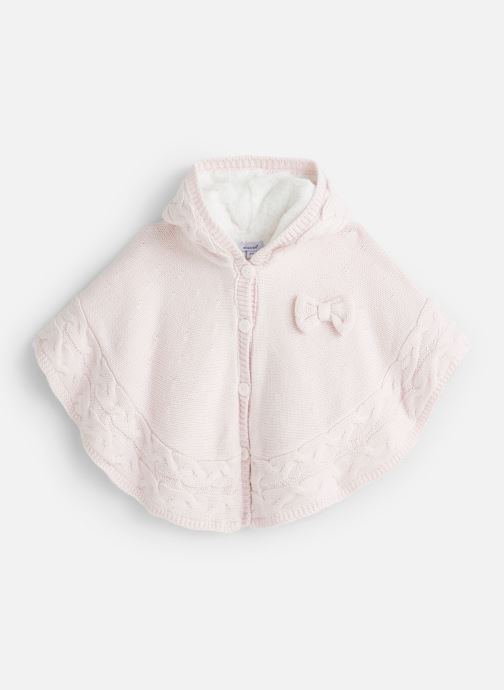 Vêtements Absorba Cape à Capuche Tricot doublée polaire Rose vue détail/paire