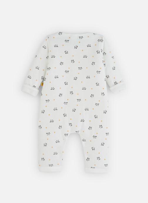 Vêtements Absorba Combi Panda Epaisse - Coton doublé Blanc vue bas / vue portée sac