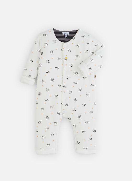Vêtements Absorba Combi Panda Epaisse - Coton doublé Blanc vue détail/paire