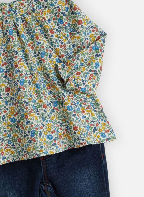 Vêtements Absorba Ensemble Blouse Liberty Denim Bleu vue portées chaussures