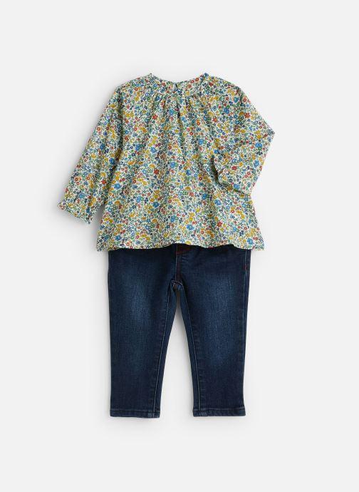 Vêtements Absorba Ensemble Blouse Liberty Denim Bleu vue détail/paire