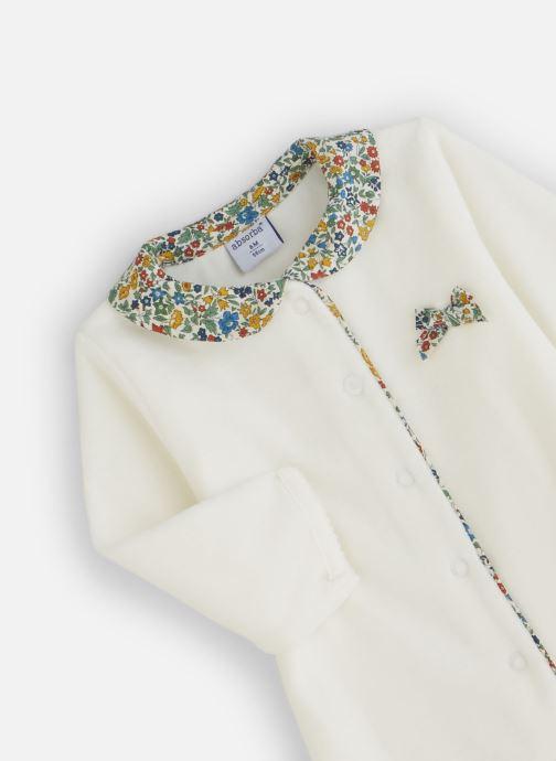 Vêtements Absorba Pyjama Velours Liberty Blanc vue portées chaussures