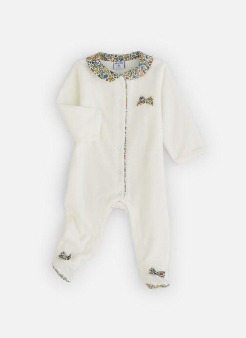 Vêtements Absorba Pyjama Velours Liberty Blanc vue détail/paire