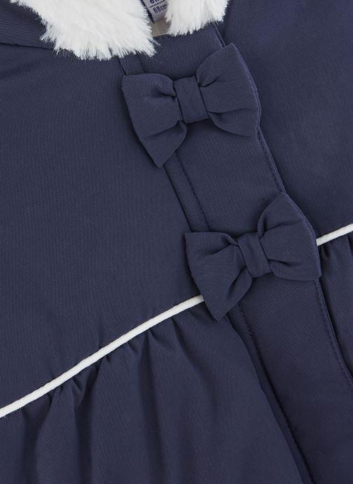 Vêtements Absorba Manteau à Capuche Marine doublé polaire Bleu vue portées chaussures