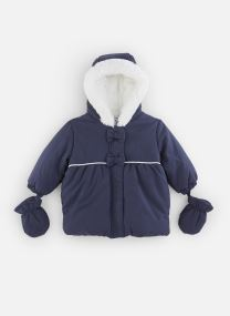 Manteau à Capuche Marine doublé polaire
